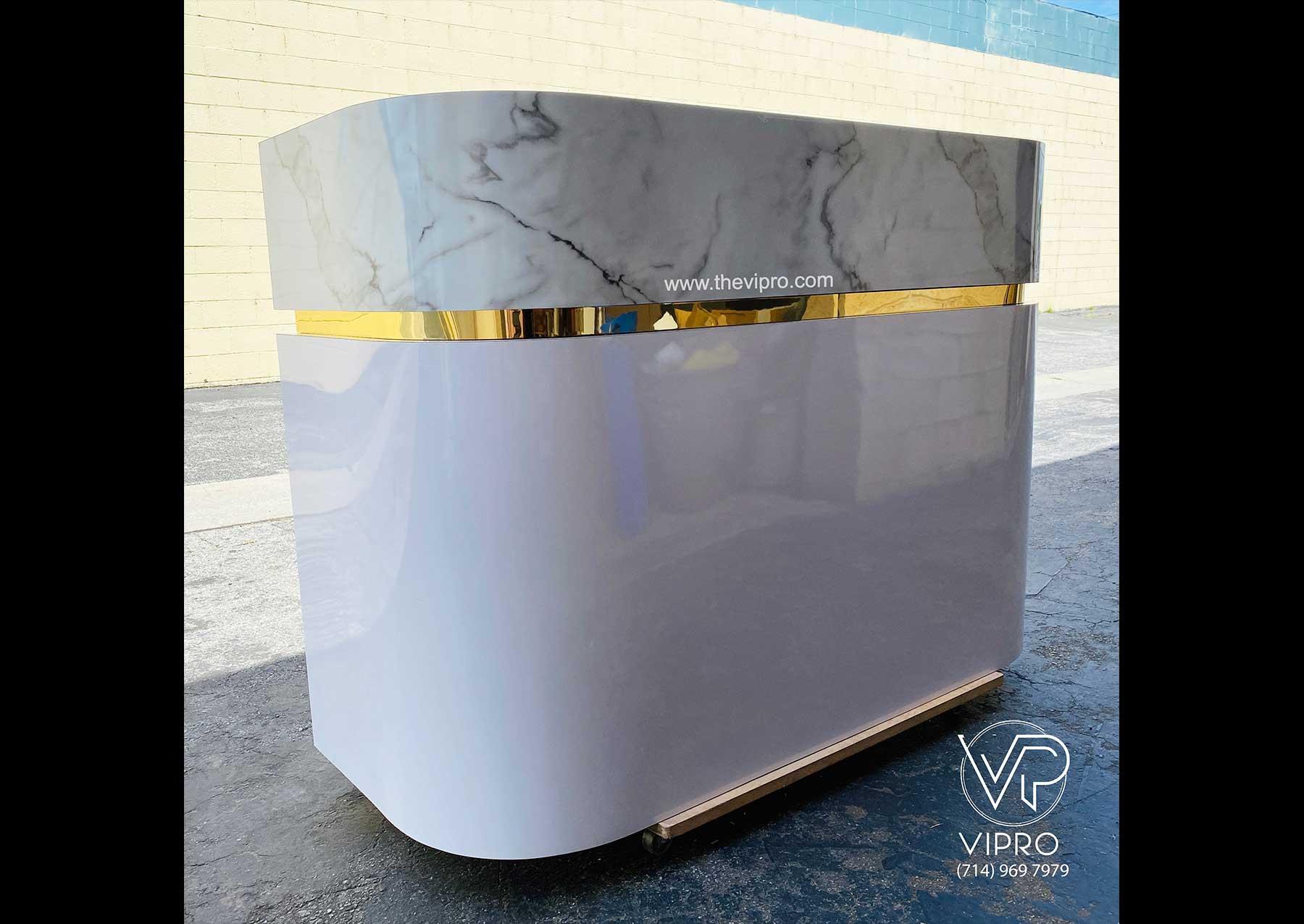 Reception Desk with Stone Finish