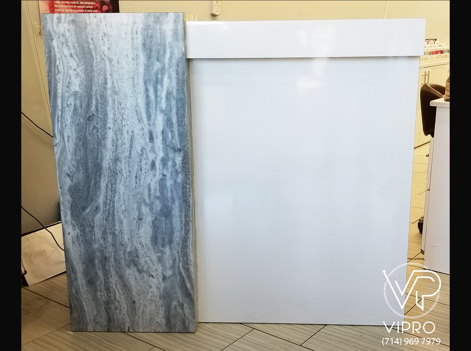 Reception Desk with Stone Formica